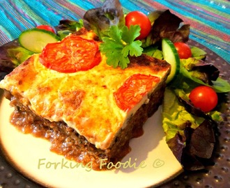 Classic Moussaka - with additional Skinny Version under 350 calories (includes Thermomix instructions)