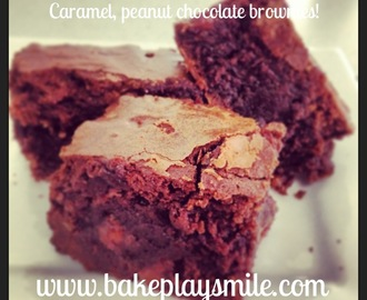 Trashed Up Caramel & Peanut Chocolate Brownies
