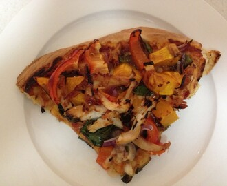 Using Leftover Roast Chicken To Make A Yummy Pizza!