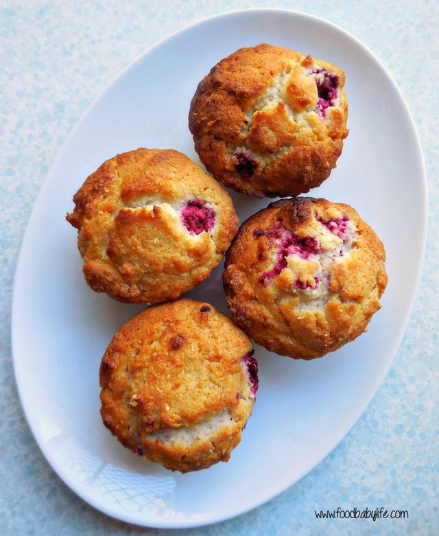 Raspberry and Coconut Muffins