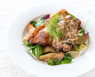 Grilled Pork, Fennel and Apples