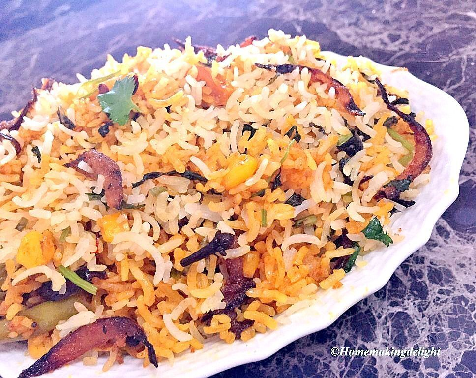Vegetable Dum Biryani Recipe – Easy Hyderabadi special Briyani