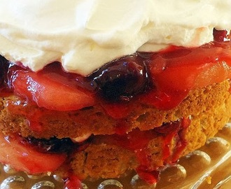 Winter Apple and Cherry Shortcake