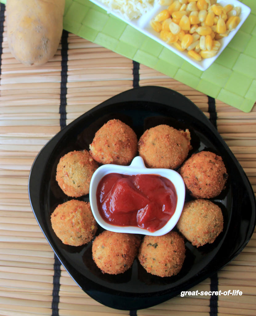 Corn Cheese balls Recipe - Snack recipes - Kids friendly Recipes