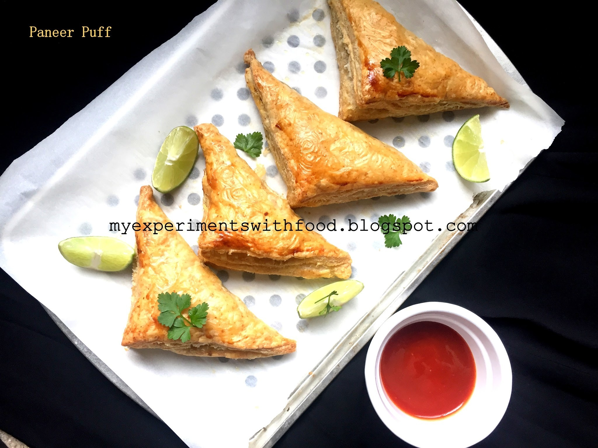 Paneer( cottage cheese) Puffs