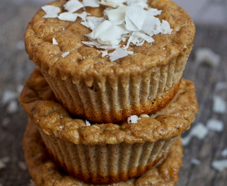 Coconut Gingerbread Protein Muffins [gluten-free]