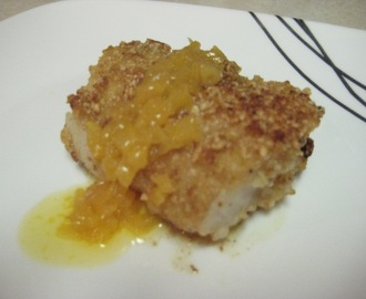 Cashew Crusted Cod with Orange Butter Sauce