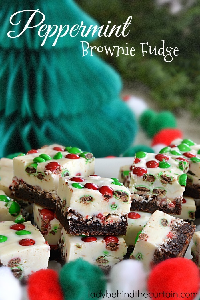 Peppermint Brownie Fudge
