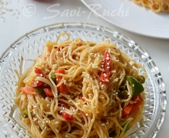 Noodles and Vegetables with Honey Ginger Sauce