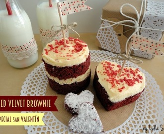Red Velvet Brownie (Epecial San Valentín con Paso a paso)