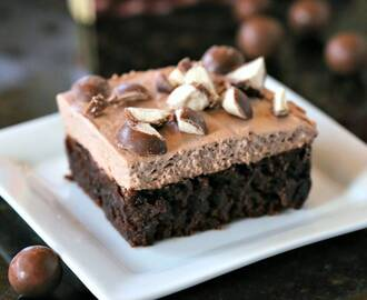 Malted Mousse Brownies