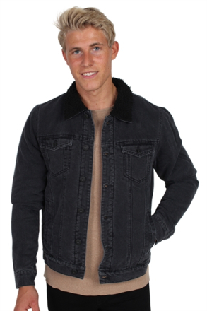 Only & Sons Louis Fur Denim Jacka Black