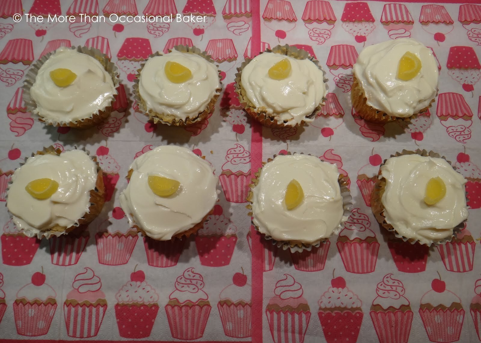 Lemon Cupcakes with Lemon and honey frosting
