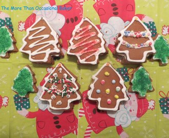 Christmas Tree Gingerbread Cookies with a hidden surprise