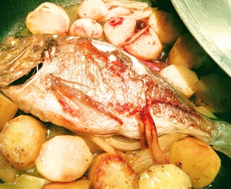 PAN COOKED SEA BREAM WITH POTATOES