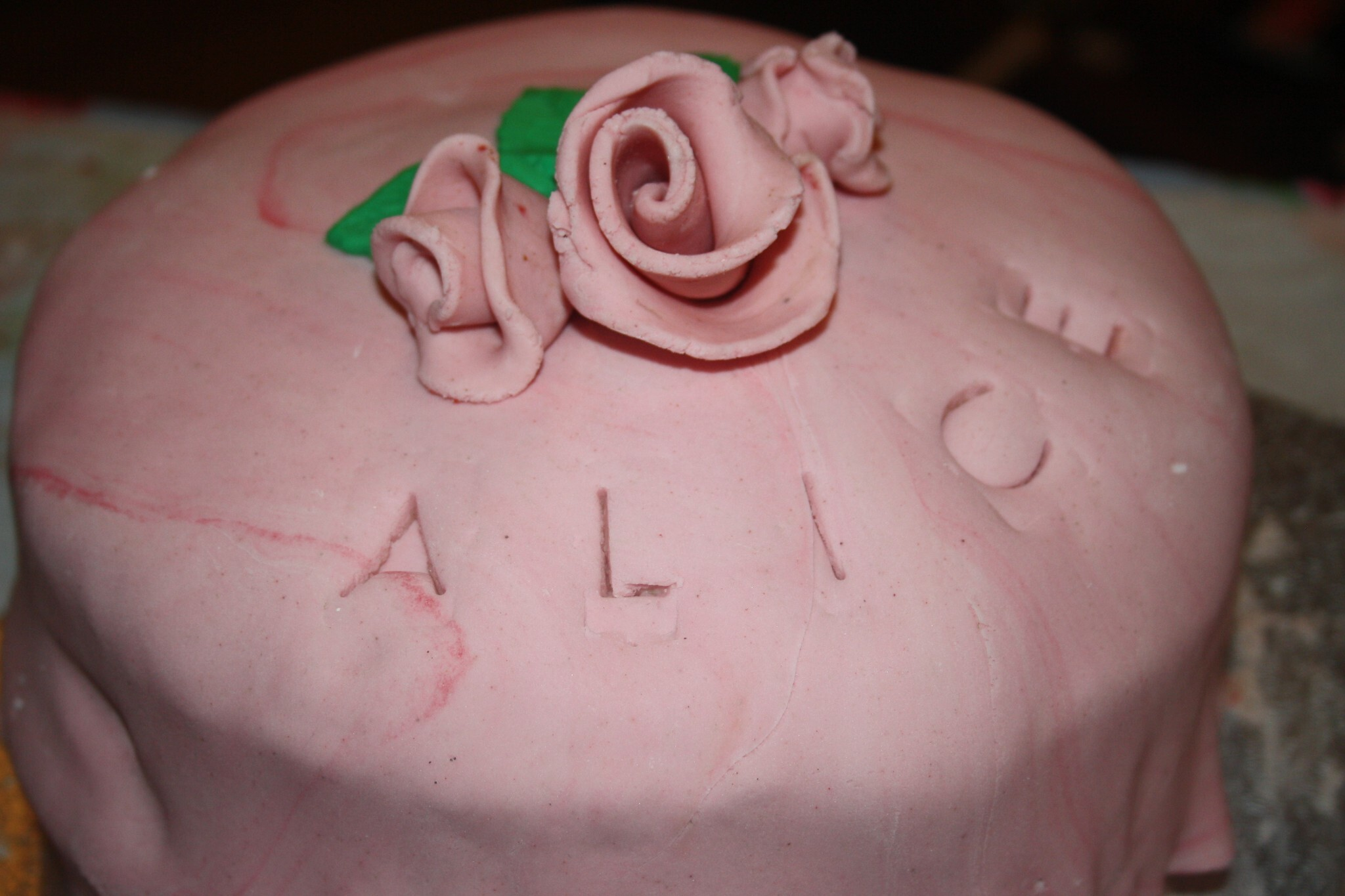 Vegan Strawberry Rose Birthday Cake