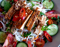 Bún Chay - Vietnamese Rice Noodle Salad with fresh herbs