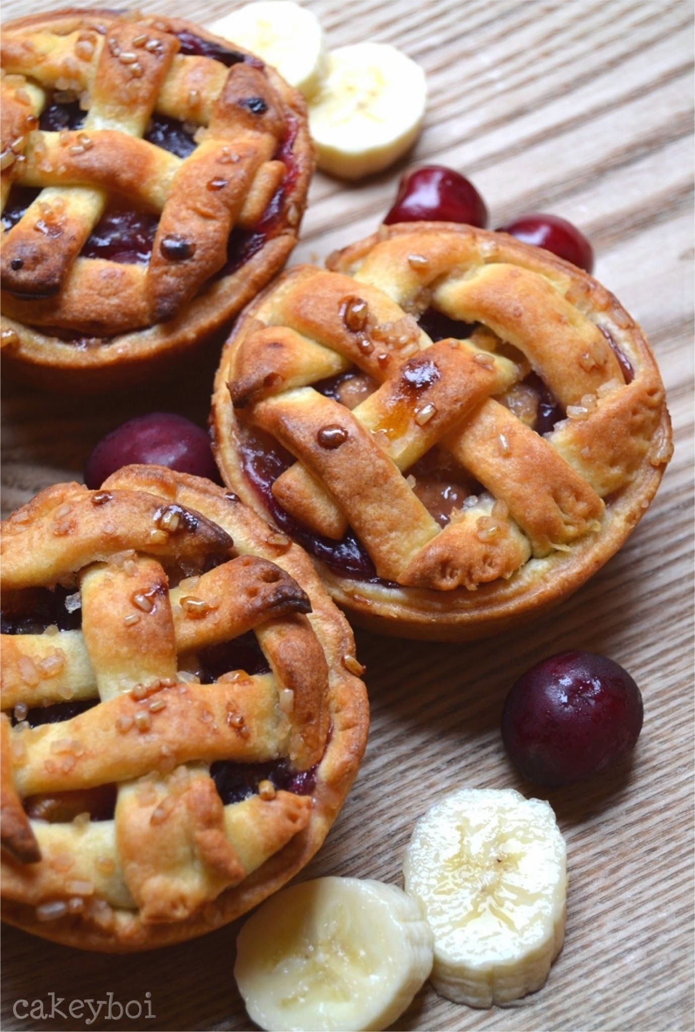Cherry Banana Mini Pies