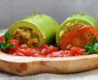 Stuffed Zucchini with Quinoa and Lentils