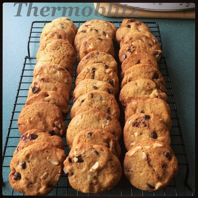 Choc Chip and Peanut Crunchy Cookies