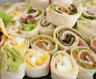 Um brunch de Domingo com Sushi wraps