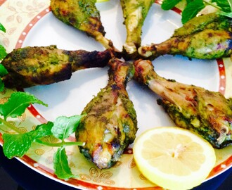 Minty chicken drumsticks