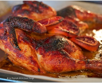 Piri-Piri chicken with tangy blood orange