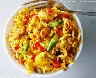 Burnt Garlic Noodles With Scrambled Egg