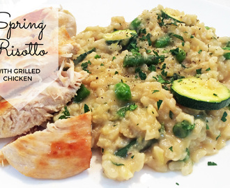 Spring Risotto with Grilled Chicken Recipe