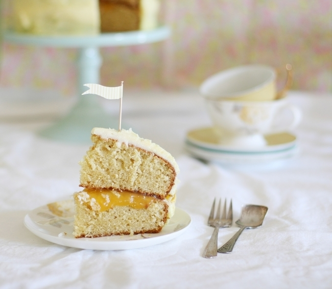 Lemon coconut layer cake