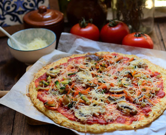 Pizza con base vegetal.