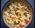 Pasta con verduras frescas y calabizo / Pasta with fresh vegetables and calabizo