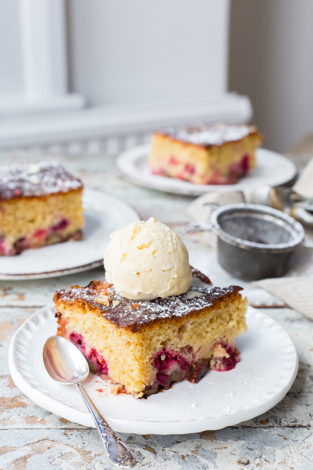 Thermomix Cranberry Pecan Cake