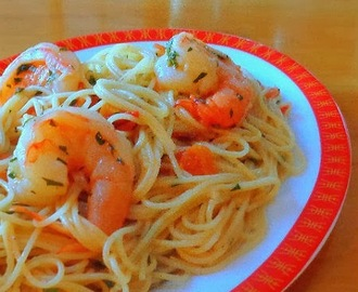 Table for Two - Lemon and Garlic Shrimp with Angel Hair Pasta