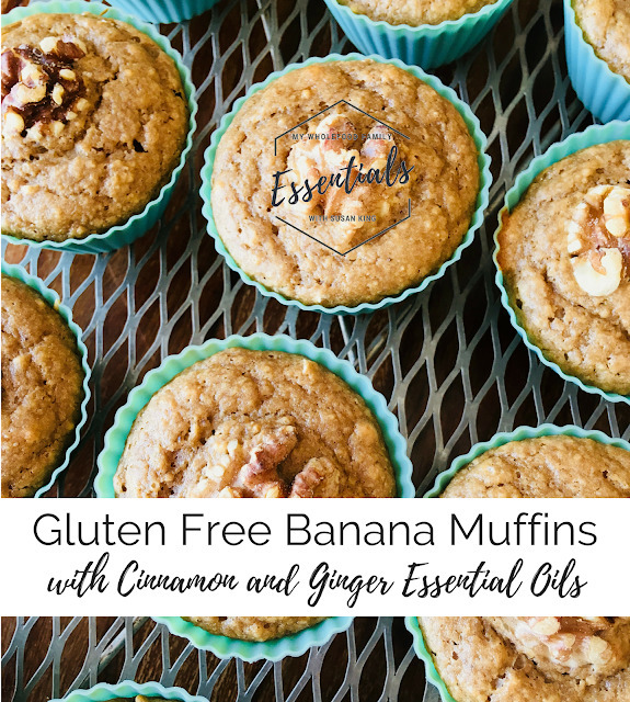 Gluten-free Banana Muffins with Cinnamon and Ginger