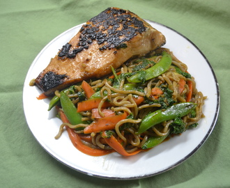 Teriyaki Salmon with Soba Veggie Noodles