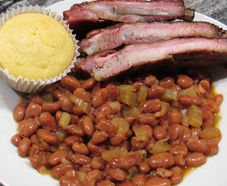 Leftover St Louis Ribs and Beans
