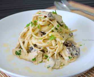 Chicken & Mushroom Pasta with Creamy Lemon Sauce