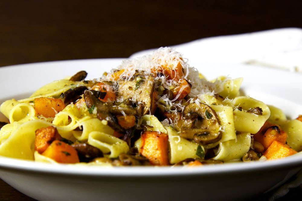 Pappardelle with Squash, Chestnuts, Mushrooms and Sage