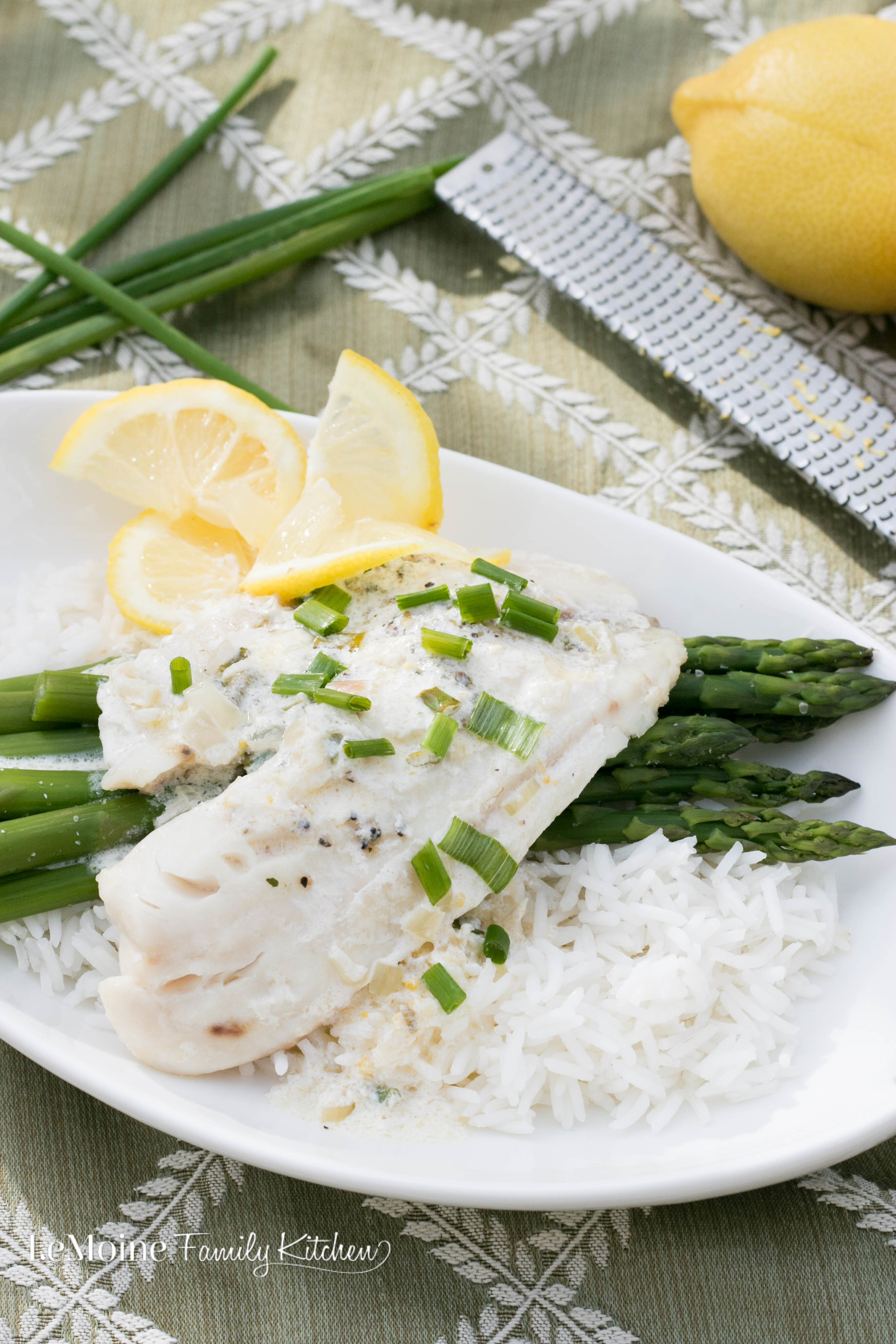 Tilapia with a Lemon Cream Sauce