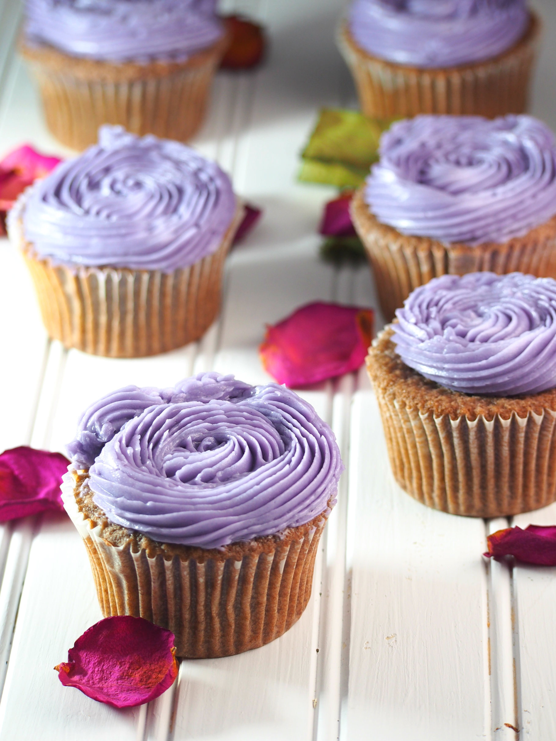 Ube Cupcakes with Ube Swiss Meringue Buttercream