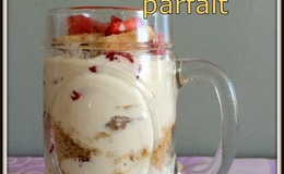 Creamy strawberry banana trifle