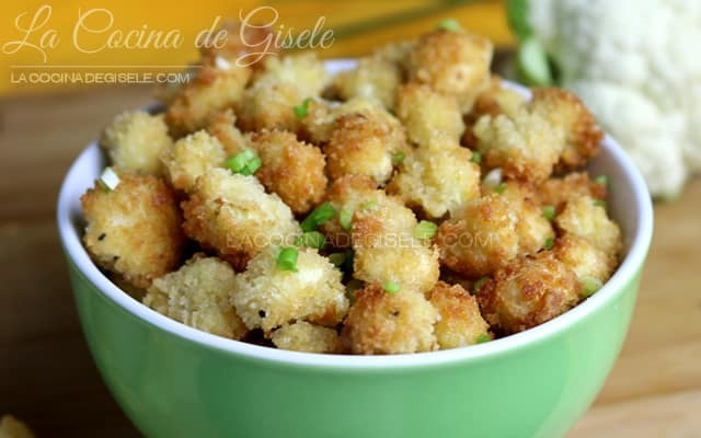 Nuggets de Coliflor receta de snack saludable