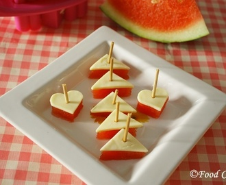 Watermelon Cheese Bites with FunBites-Luv it!