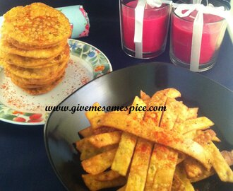 Chora Fari and Farsi Puri (Crispy Indian Snacks)