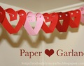Paper heart garland (tutorial).