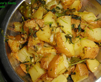 Methi aloo ( potato with fenugreek leaves )