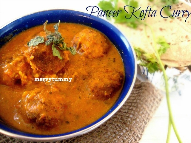 Panner Kofta Curry / Cottage Cheese Dumplings Curry- A Royal Treat