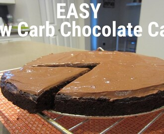 EASY Low Carb Chocolate Cake | SO EASY! | Zucchini Chocolate Cake | Keto Cake
