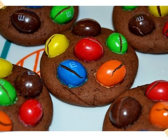 Cookies de chocolate con M&M's